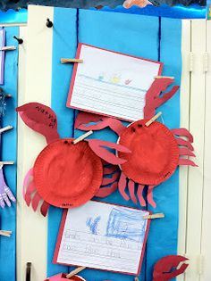 great Kindergarten lesson using writing and introducing them to sea creatures