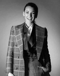 Blake Lively Family, Naomi Campbell, Office Fashion, Black And White Photography, Editorial Fashion, Fashion Photography, Suit Jacket, Blazer, Celebrities
