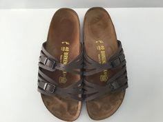 40 L9 M7 (260) Birkenstock MOCHA GRANADA Strappy Slides Sandals COCOA BROWN #Birkenstock #Strappy #Casual