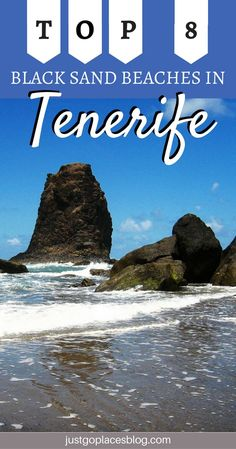 The island of Tenerife, Spain, is famous for its beuatiful beaches. Discover what are the best 8 Tenerife black sand beaches and why you should head there ASAP! | Tenerife Canary Islands | Tenerife black beach | things to do in Tenerife #tenerife #blacksandbeach #tbestbeach - via @justgoplaces