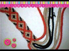 Ply-Split Braiding: Using a Double-Pointed Gripfid to make Leftward Splittings Wiggly Crochet, Knit Crochet, Finger Weaving, Mochila Crochet, Tapestry Crochet Patterns, Tapestry Bag, Fabric Yarn, Crochet Purses, Crochet Videos