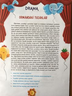 This Pin was discovered by Şul Drama Activities, Drama Games, Classroom Activities, Activities For Kids, Drama Drama, Learn Turkish, Book Corners, Pre School, Kids And Parenting
