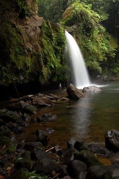 Taytay Falls. Located at Barangay Gagalot, Majayjay, Laguna. Taytay falls has some of the clearest waters. The water flows from Mt. Banahaw, through the mountain's lush and untouched forest which keeps the water clear even during heavy rains. The water temperature is extremely cold even during summer but, for people who are not use to cold water, they can still take a swim for a few minutes before their teeth start chattering.