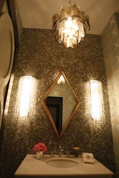 Blinged-out bathroom.