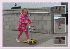 Lois on her mini scooting adventures