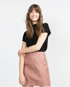 T-SHIRT WITH PETER PAN COLLAR-View all-T-shirts-WOMAN   ZARA United States