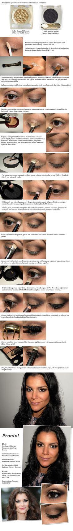 Aline Moraes' makeup in Cannes