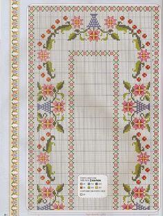 Χειροτεχνήματα: Σχεδια για κεντητά τραπεζομάντηλα / Tablecloth cross stitch patterns