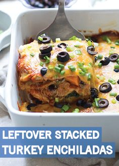 ... Turkey Stacked Enchiladas with Sweet Potato, Black Beans, and Spinach