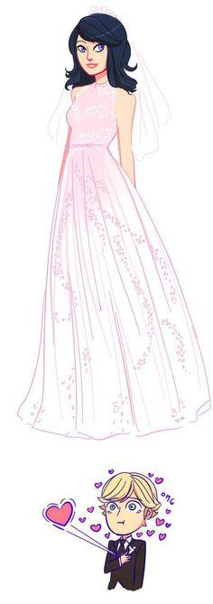 Imagen de drawing, marinette, and Adrien