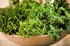 "On kale - ""My favorite way to eat more is making kale chips, a total party favorite and kid pleaser. Just rip up the kale, massage a little olive oil into the leaves, and bake at for 10 to 15 minutes. They're as good as potato chips! Detox Recipes, Healthy Recipes, Healthy Foods, Detox Foods, Healthy Salads, Healthy Options, Healthy Treats, Healthy Smoothies, Soup Recipes"