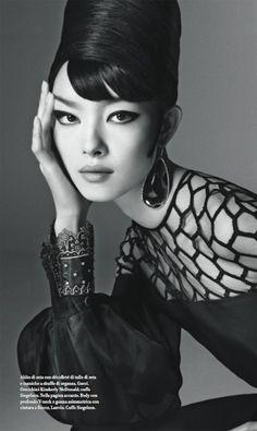 "Vogue Italia January 2013 / Editorial: ""FEI FEI"" / Photographer: Steven Meisel / Styling: Lori Goldstein / Hair: Guido / Makeup: Pat McGarth"