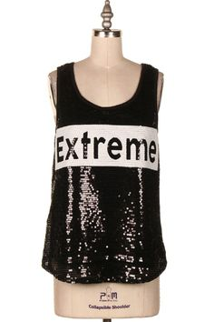 EXTREME SEQUINS TANK TOP   #3J-3099