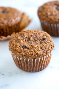 Delicious and easy bran muffins recipe packed with wheat bran, plump raisins and applesauce.They're fast and easy to make!