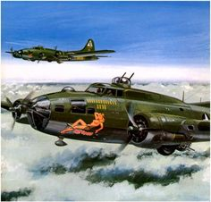 B-17F 'Hot Stuff' on occupied Europe, July 1943 ~ BFD