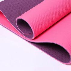 Yoga mat tpe yoga mat fitness mat lengthen 183cm double faced slip-resistant… #yoga #fitness #workout #health #yogapants #meditation