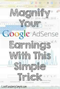 How to Increase your Google Adsense Earnings with this simple trick...this is not a get rich quick scheme..she actually helps you determine what posts to promote to help you make more money! dont just pin this, do this ASAP!