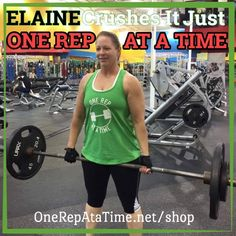 Check out our ONE REP sister ELAINE! As you can see she is absolutely CRUSHING IT with her training! It's been an honor working with her through our online routine creation services - she has been dedicated and consistent from the very start and all of her hard work is already paying off! She knows not to follow those silly old myths that women should only do very light weights with hours upon hours of cardio to complete her physique transformation - what an inspiration! - - Like her shirt?…