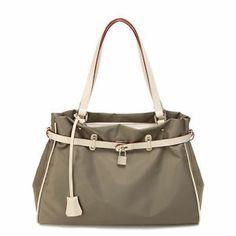 Ital. Schultertasche Damen Handtasche Shopper Tasche Nylon Beuteltasche