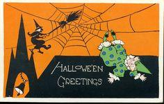 Halloween Halloween Greetings 0 Clown Stuck in A Spider Web | eBay