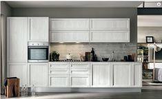 Risultati immagini per cucine con forno rialzato First Kitchen, Interiores Design, Modern Design, Shabby, Kitchen Cabinets, Instagram, House, Mamma, Home Decor