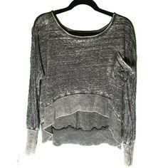 Crop Sweatshirt Super soft dark grey crop sweatshirt. Pocket on front, high-low effect. Donni Charm Tops Sweatshirts & Hoodies