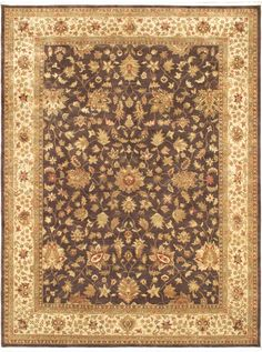 Hand-knotted Chobi Twisted Dark Brown Wool Rug ( $2,096.00 )