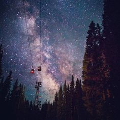 Under the stars #aspen #colorado by tmo-photo, via Flickr   Where I'm going to live one day.