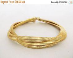 SALE Vintage Gold Omega Chain Double Strand by MemawsTopDrawer