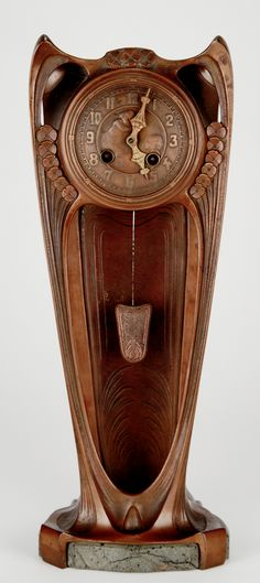 German Mantle Clock, c. 1902, 45cm H.