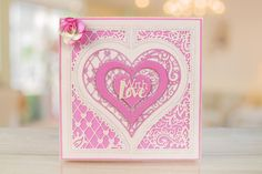 The Paisley Parade Collection features brand new shaped interlocking dies that offer more multi-use and more intricate detailing to create an extremely versatile die Tattered Lace Cards, Shaped Cards, Heart Cards, Wedding Cards, Cardmaking, Tatting, Paisley, Valentines Day, Anniversary