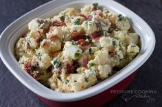 BLT Potato Salad - cooks in only 4 minutes in the pressure cooker. Cook the eggs and potatoes together in the pressure cooker. Pressure Cooker Potatoes, Slow Cooker Pressure Cooker, Easy Pressure Cooker Recipes, Pressure Cooking Today, Instant Pot Pressure Cooker, Pressure Pot, Mayonnaise, Traditional Potato Salad Recipe, Power Cooker Recipes