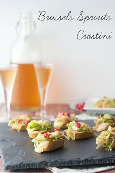 Brussels Sprouts Crostini is a different way to serve up a vegetarian appetizer for entertaining.