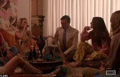 Mad Men Hookah lounge in house