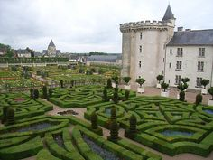 Chateau de Villandry – a 16th century late Renaissance chateau in the Loire Valley, France…..famous for it's magnificent gardens