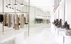 Jil Sander flagship store in Soho NYC by Raf Simons in collaboration with Space 4 Architecture _ Retail Store Design, Retail Shop, Window Display Retail, Retail Displays, Shop Displays, Window Displays, Retail Stories, Concept Shop, Concept Stores