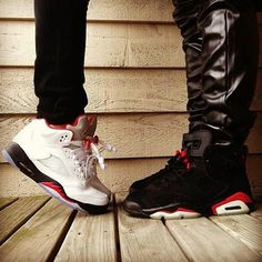 The couple that rocks J's together, stays together.