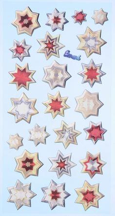 SOFTY-Stickers Sterne von A -Z Bastelshop auf DaWanda.com