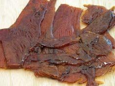 Low Sodium & Carb. Beef Jerky Recipe  Ingredients:     3 pounds of beef     1/2 cup of water     3 dashes of liquid smoke     1 teaspoon of pepper     1 teaspoon of cayenne     1 teaspoon of garlic     1 teaspoon of chili powder     1 teaspoon of onion powder     4 tablespoons of salt (reduced sodium) Low Sodium Beef Jerky Recipe, Keto Jerky Recipe, Jerky Marinade, Teriyaki Beef Jerky, Venison Jerky, Beef Jerky Dehydrator, Dehydrator Recipes, Jerkey Recipes, Beef Recipes