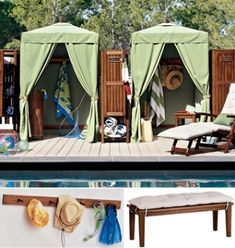 Details About Portable Cabana Stripe Changing Room Privacy