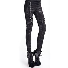 "Pantalon Steampunk Gothique Punk Rave ""Distortion"""