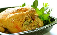 Rosemary Stuffed Roast Chicken recipe   Poultry recipes   Whats For Dinner