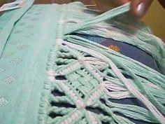 Ateliê Artetramas - Festoné e Ponto Torcido Macrame Toran, Macrame Art, Macrame Knots, Micro Macrame, Pomegranates, Macrame Tutorial, Weaving Art, Lace Making, Fabric Manipulation
