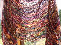 Ravelry: Iris - Goddess of Rainbow Shawl pattern by Natascha Vögele  Pattern not free, but how can I not love it?