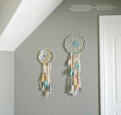 Dream Catchers w Fabric Feathers