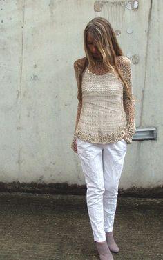 Summer Lovin cotton loose knit open weave iLE AiYE by ileaiye,