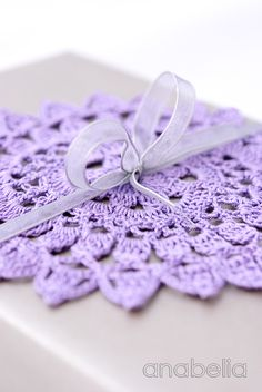 Wrapping with crochet doily