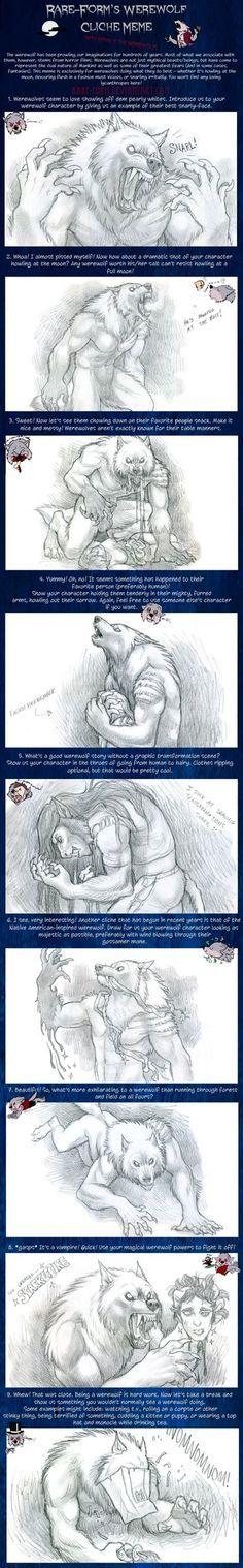 Werewolf Cliche Meme by kyoht on DeviantArt