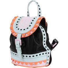 Sophia Webster Backpacks & Fanny Packs ($438) ❤ liked on Polyvore featuring bags, black, leather bags, animal backpack, fanny bag, belt bag and genuine leather backpack