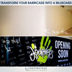 Transform your barricade into a billboard with attention grabbing graphics. #modularbarricades #barricades #billboard